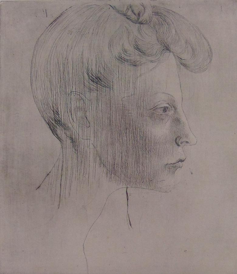 Head of Woman, In Profile  Tête de femme, de Profil, from: La Suite des Saltimb