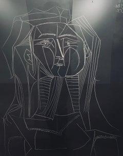 Head on a Black Background (Tete sur Fond noir)
