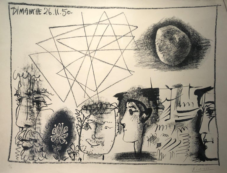 Pablo Picasso Abstract Print - Heads and Stone