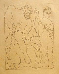 """Hercule tue le Centaure Nessus - From """"Le Métamorphoses d'Ovide"""""""