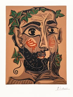 Homme barbu couronné de Feuillage (Bearded Man Crowned with Greenery)