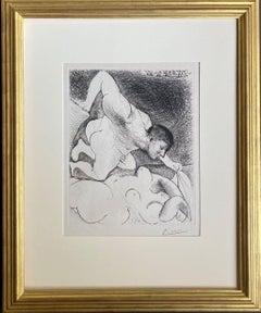 Homme dévoilant une Femme. (Man uncovering a woman).
