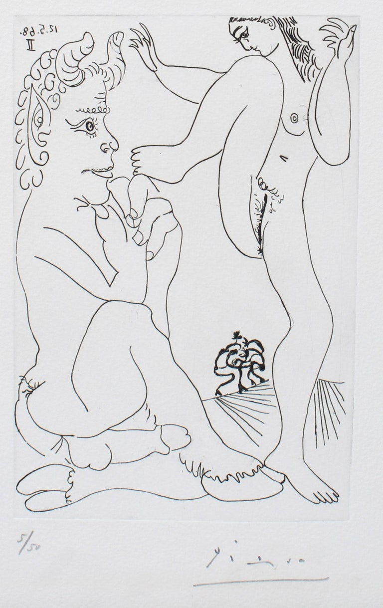Important Erotic Picasso Etching 1968 Hand Signed Numbered Metropolitan Exhibit - Modern Print by Pablo Picasso