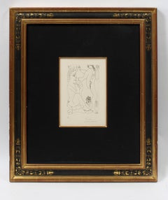 Important Erotic Picasso Etching 1968 Hand Signed Numbered Metropolitan Exhibit