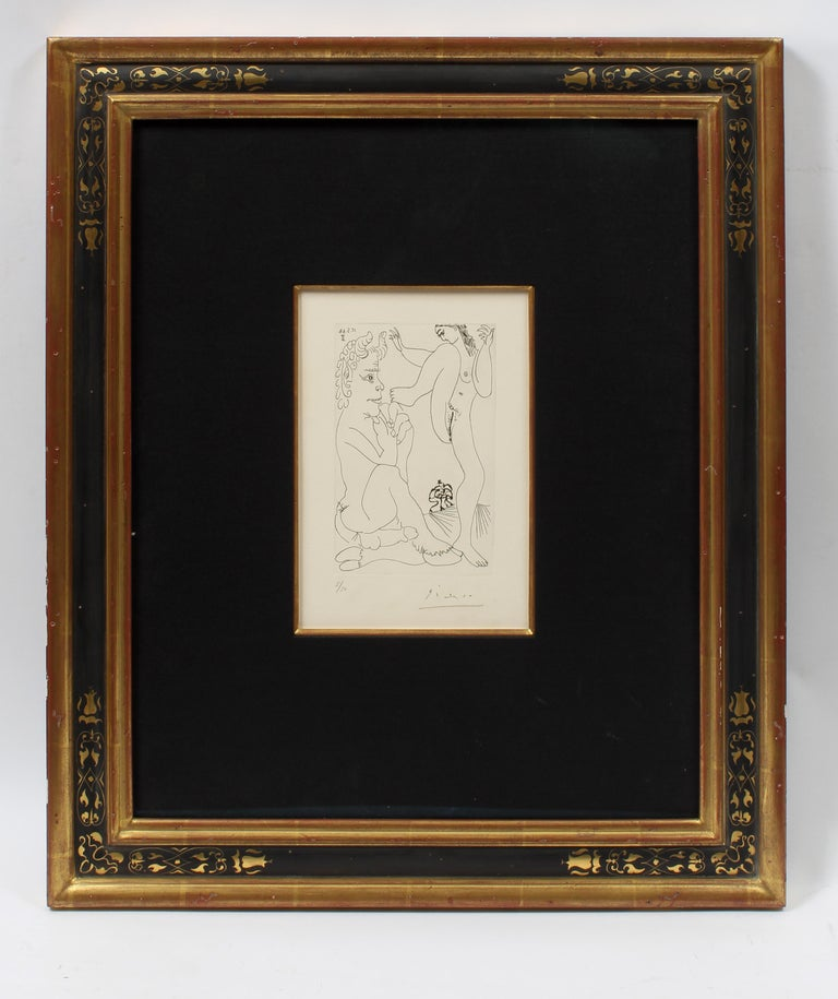 Pablo Picasso Nude Print - Important Erotic Picasso Etching 1968 Hand Signed Numbered Metropolitan Exhibit