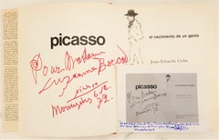 "Inscribed and signed Picasso book, 1972 ""Picasso, El nacimiento de un genio"""