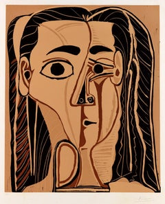 Jacqueline au Bandeau de Face (Grand Tête de Femme)