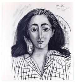 Jacqueline - Lithograph After Pablo Picasso - 1964