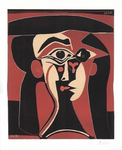 Jacqueline with Black Hat (Head of a Woman)