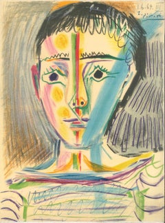 Jeune Homme - Original Unsigned Lithograph by Pablo Picasso - 1964