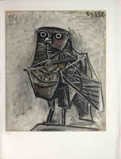 La Chouette - Original Pochoir after Pablo Picasso - 1954