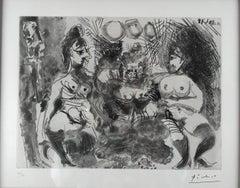 Pablo Picasso, La Fete de la Madame, dry point etching