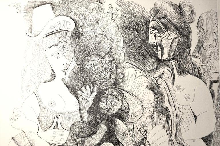 La Fête de la Patronne - Original Etching by Pablo Picasso - 1971 For Sale 1