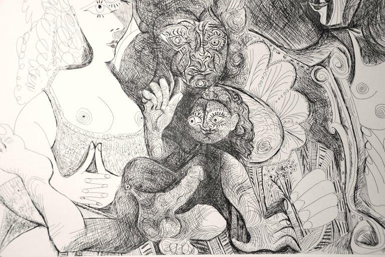 La Fête de la Patronne - Original Etching by Pablo Picasso - 1971 For Sale 2