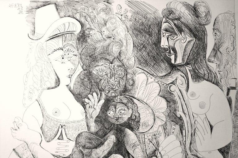 La Fête de la Patronne - Original Etching by Pablo Picasso - 1971 For Sale 5
