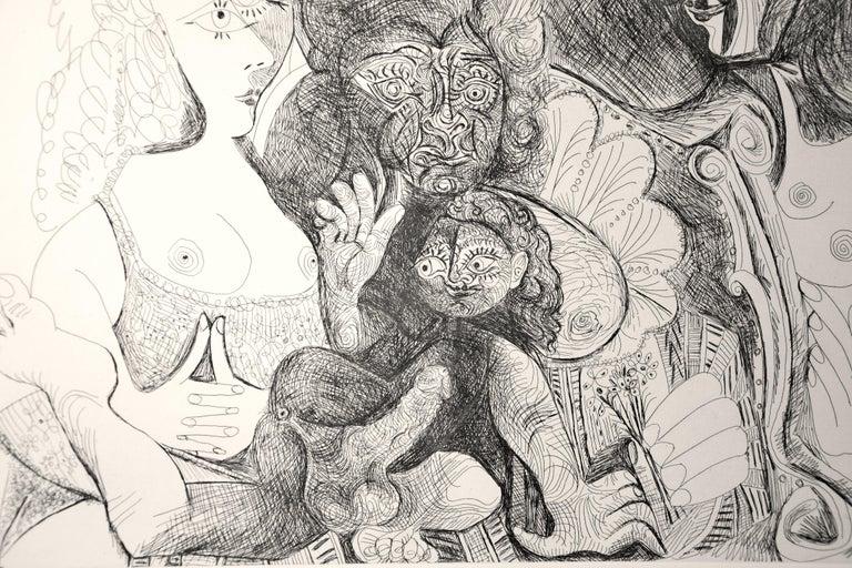 La Fête de la Patronne - Original Etching by Pablo Picasso - 1971 For Sale 6