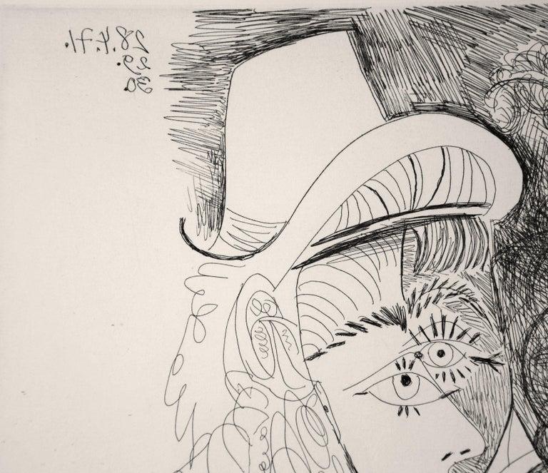 La Fête de la Patronne - Original Etching by Pablo Picasso - 1971 For Sale 7