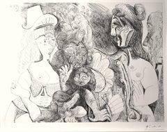 La Fête de la Patronne - Original Etching by Pablo Picasso - 1971