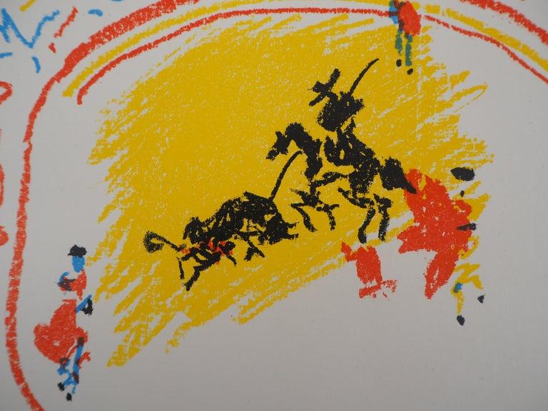 Pablo PICASSO  La Petite Corrida, 1958  Original lithograph  Printed signature in the plate On wove paper 31 x 24 cm (c. 12 x 10 in) Edition San Lazarro, 1958  REFERENCES :  - Catalog raisonne Bloch #839 - Catalog raisonne Mourlot #302 From the