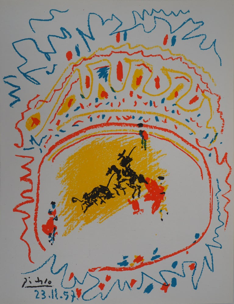 Pablo Picasso Figurative Print - La Petite Corrida - Original lithograph (Bloch #839 / Mourlot #302)