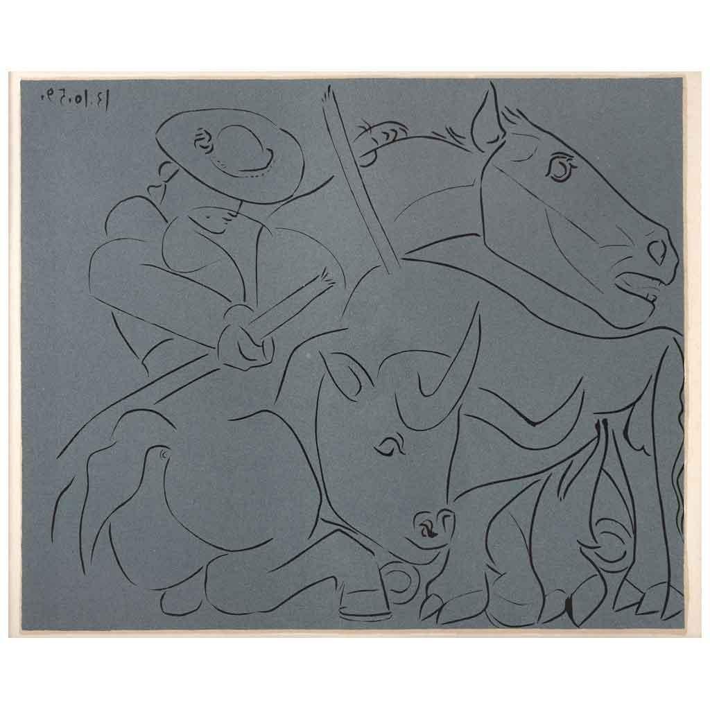 La Pique Cassee - Grabados al Linóleo, 1963