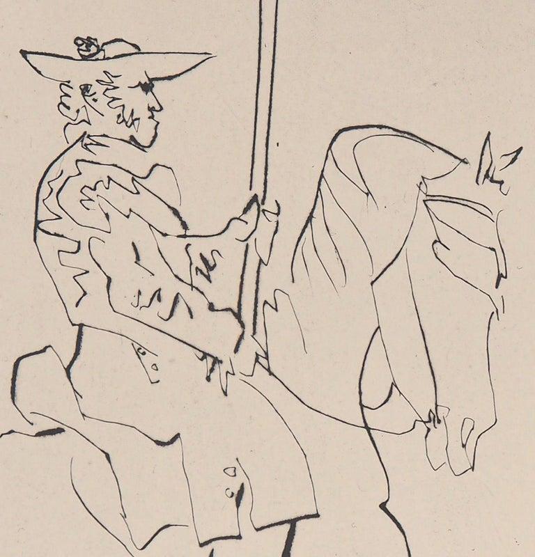 Le Carmen Des Carmen, 1960 - Original etching - Beige Figurative Print by Pablo Picasso