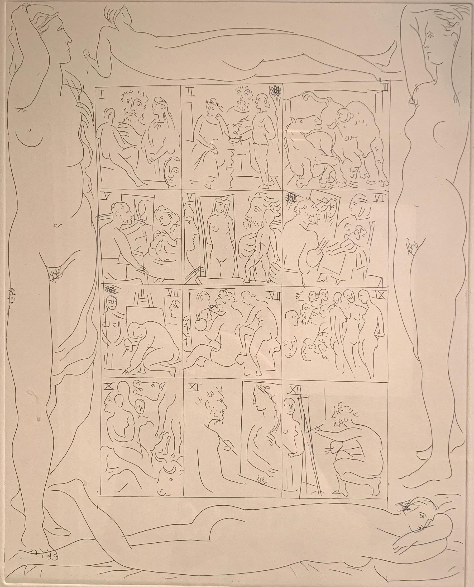Pablo Picasso, Table des Eaux-Fortes (from Honoré de Balzac, Le Chef-d'Oeuvre)