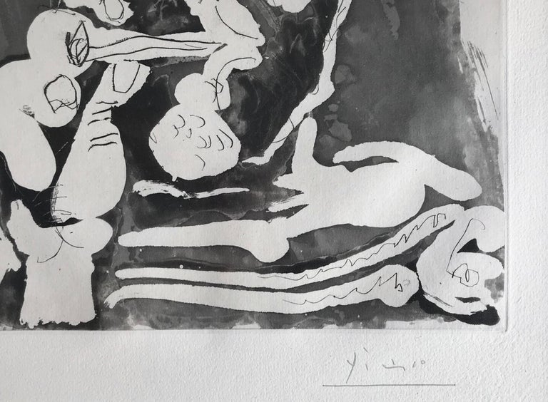 Le Fumeur IV, Etching with Aquatint, Modern Art, 20th Century - Print by Pablo Picasso
