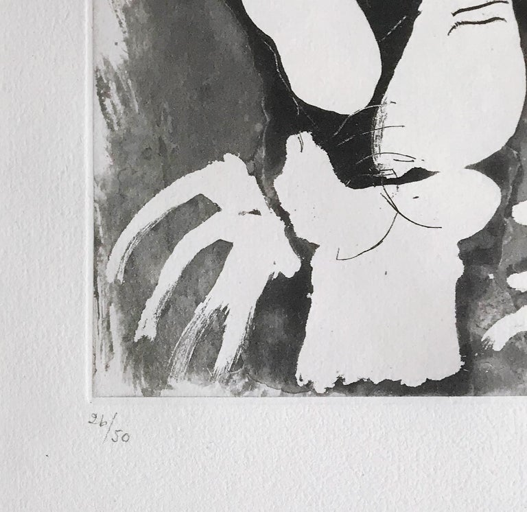 Le Fumeur IV, Etching with Aquatint, Modern Art, 20th Century For Sale 1