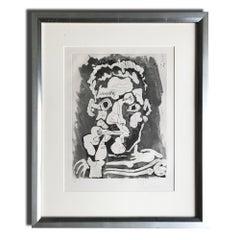 Le Fumeur IV, Etching with Aquatint, Modern Art, 20th Century