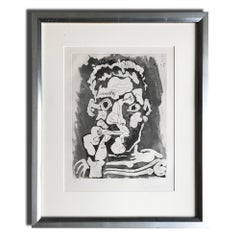 Le Fumeur IV, Etching with Aquatint, Modern Art, Cubism, 20th Century