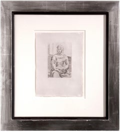 Italienne avec livre - Pablo Picasso, abstract, etching, mid-20th century