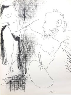 """""""Le Peintre et son Modèle"""" - Original Lithograph"""