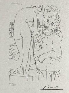 Le sculpteur et la sculpture de dos (Suite Vollard Planche LI)
