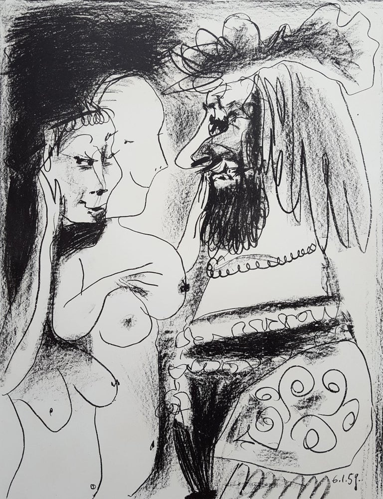 Pablo Picasso Figurative Print - Le Vieux Roi (The Old King) - signed in blue crayon, ed. 200