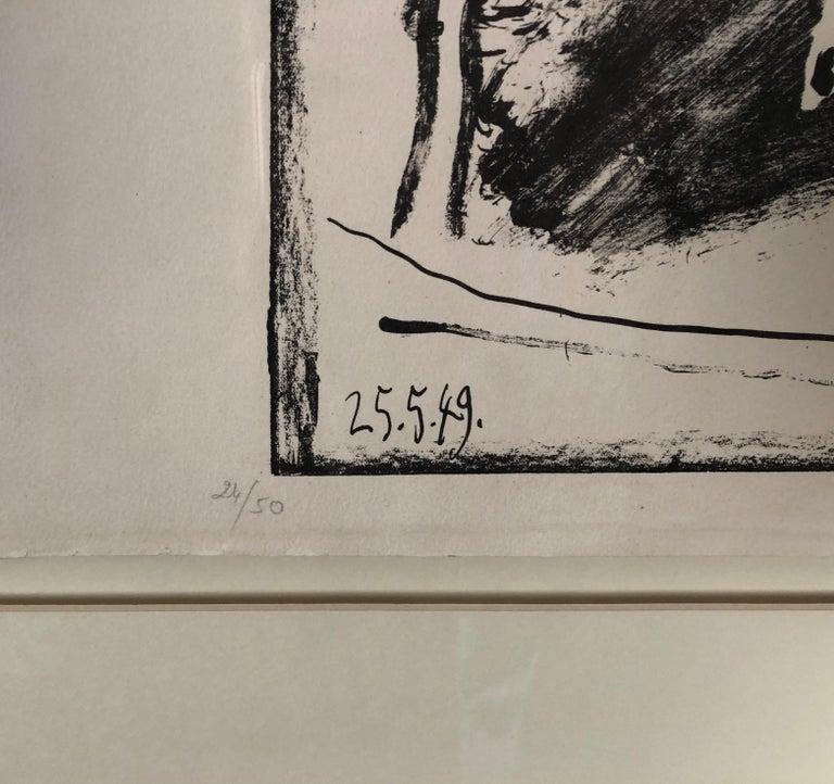 Pablo Picasso, Les Banderilles - Gray Figurative Print by Pablo Picasso