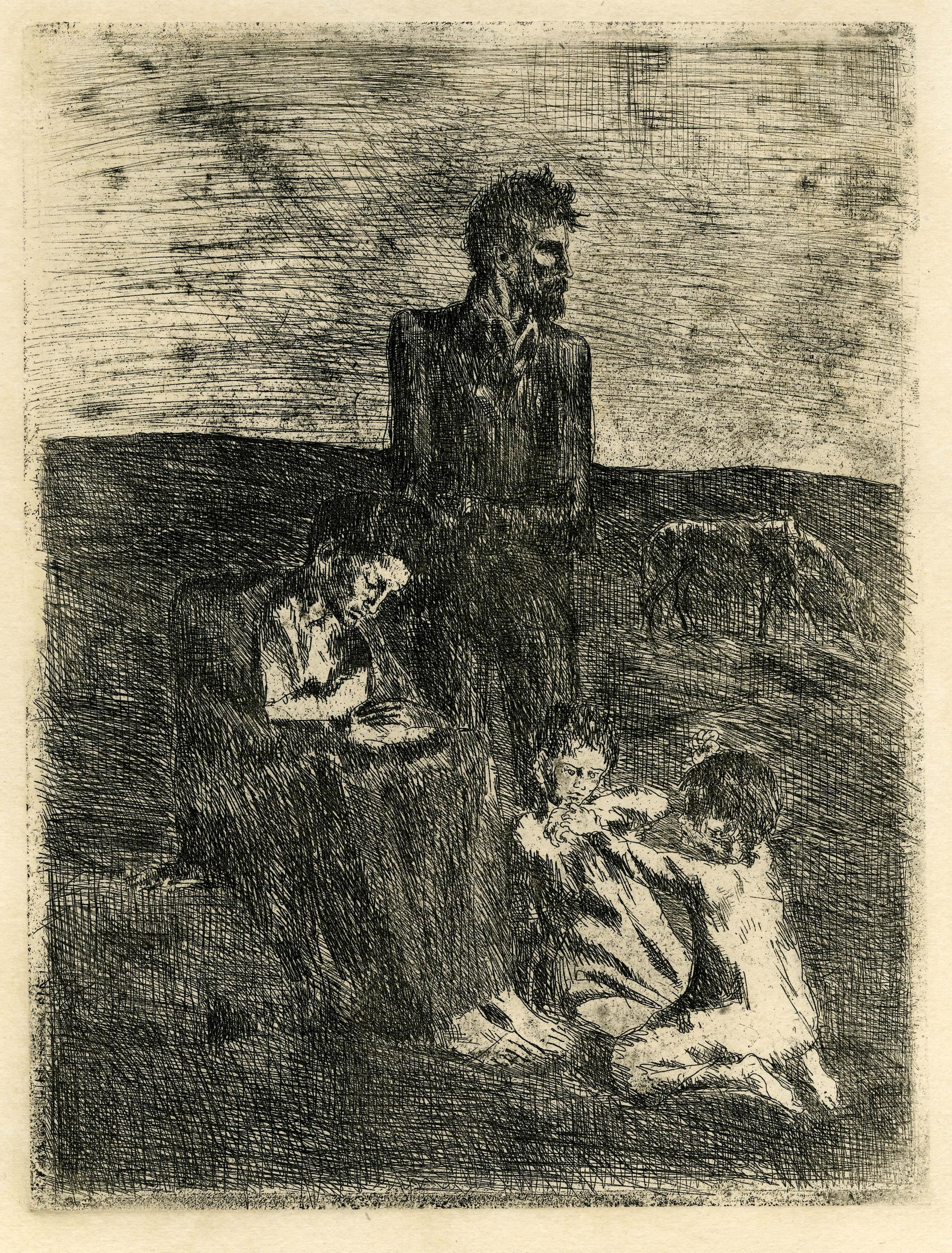 Les Pauvres (The Poor), from the famous Blue Period