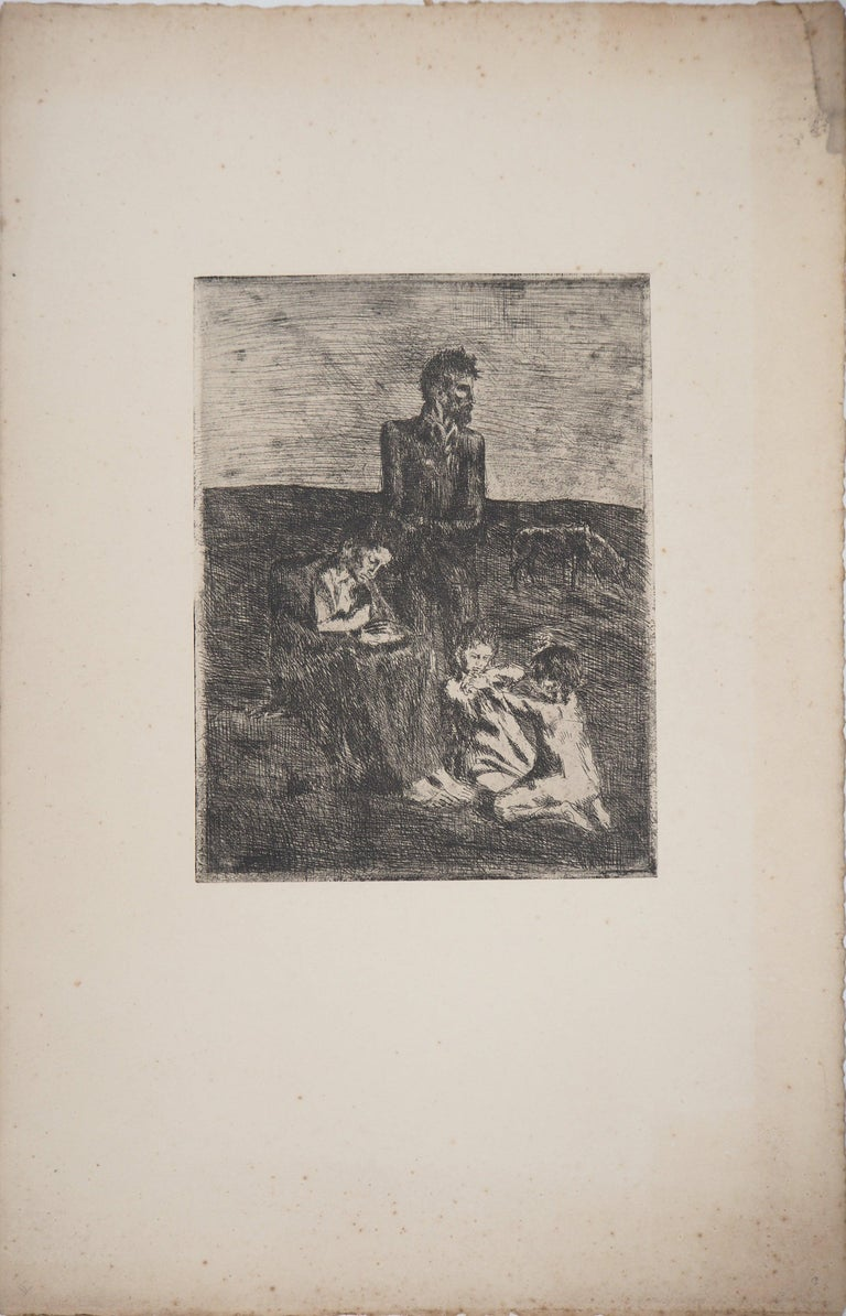 Les Saltimbanques : Les Pauvres - Original etching (Bloch #2) - Print by Pablo Picasso
