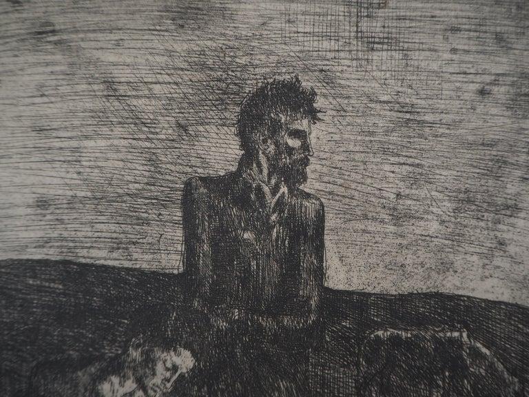 Les Saltimbanques : Les Pauvres - Original etching (Bloch #2) For Sale 3