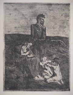 Les Saltimbanques : Les Pauvres - Original etching (Bloch #2)