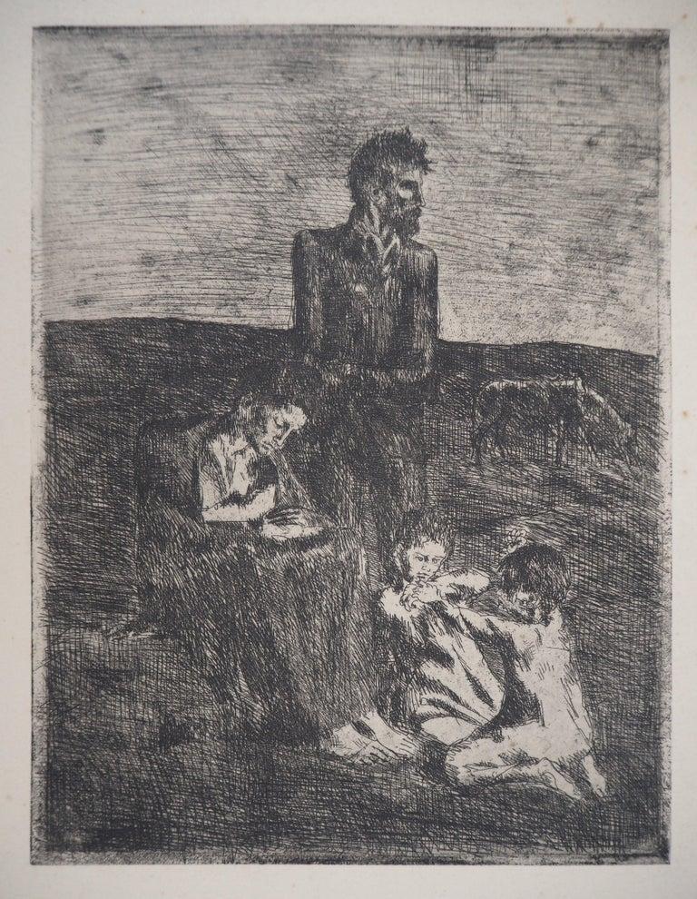 Pablo Picasso Figurative Print - Les Saltimbanques : Les Pauvres - Original etching (Bloch #2)