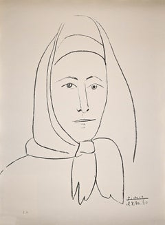 L'Espagnole - Original Lithograph by Pablo Picasso - 1960