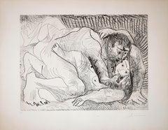 L'Etreinte II - Original Etching by P. Picasso - 1963