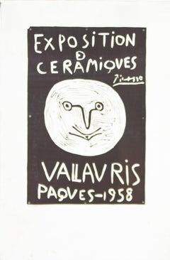 Picasso Poster Art Ceramics Exposition Vallauris 1958 Mourlot
