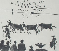 Los Cabestros Retiran al Toro Manso (Halters Withdraw the Tamed Bull)