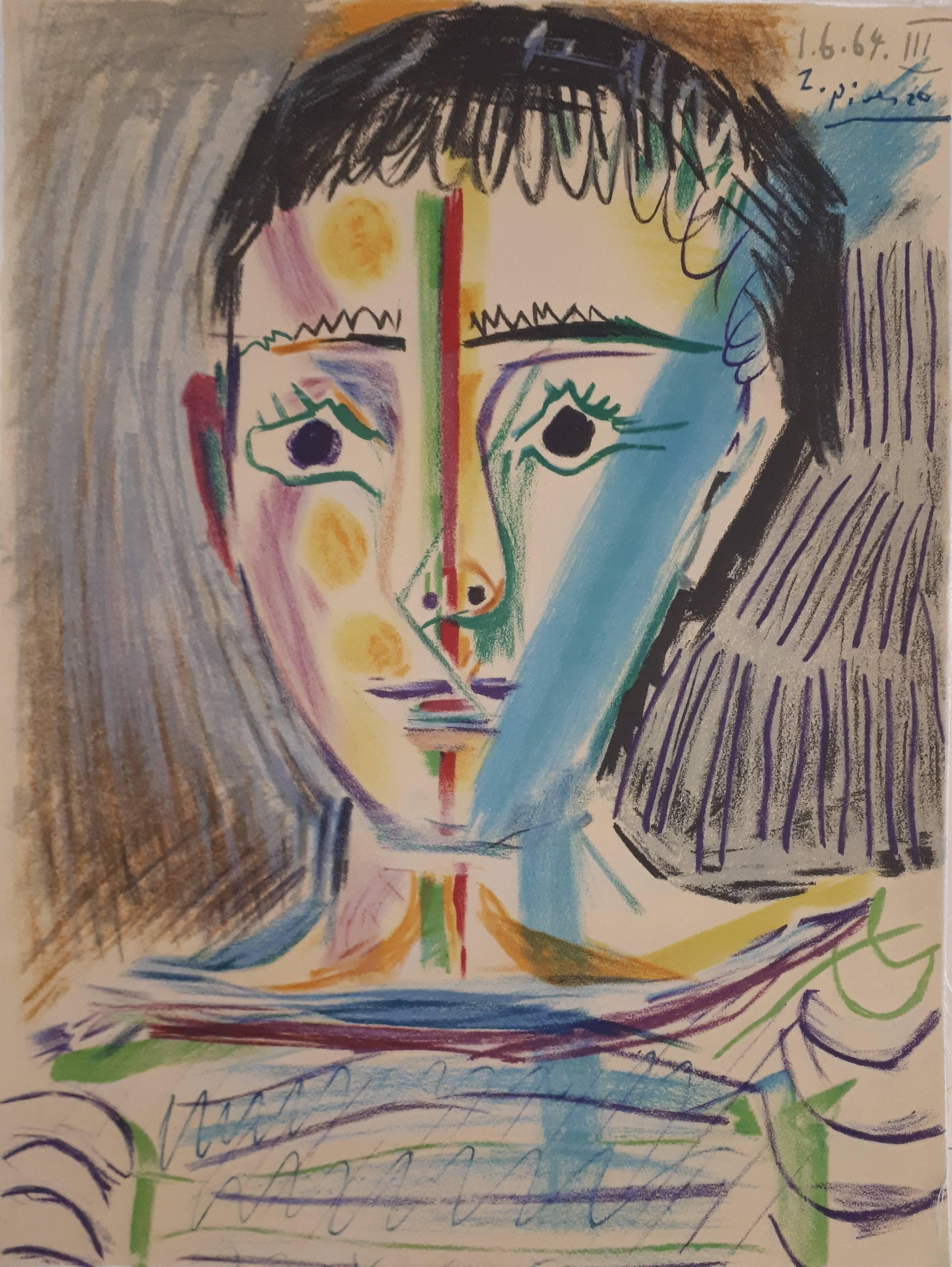 Man With Sailor Blouse - Stone lithograph - 1965