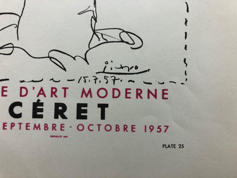 Manolo Hugnet, Ceret, Musee D'art Moderne, 1957. Poster (Reproduction).  - Print by Pablo Picasso