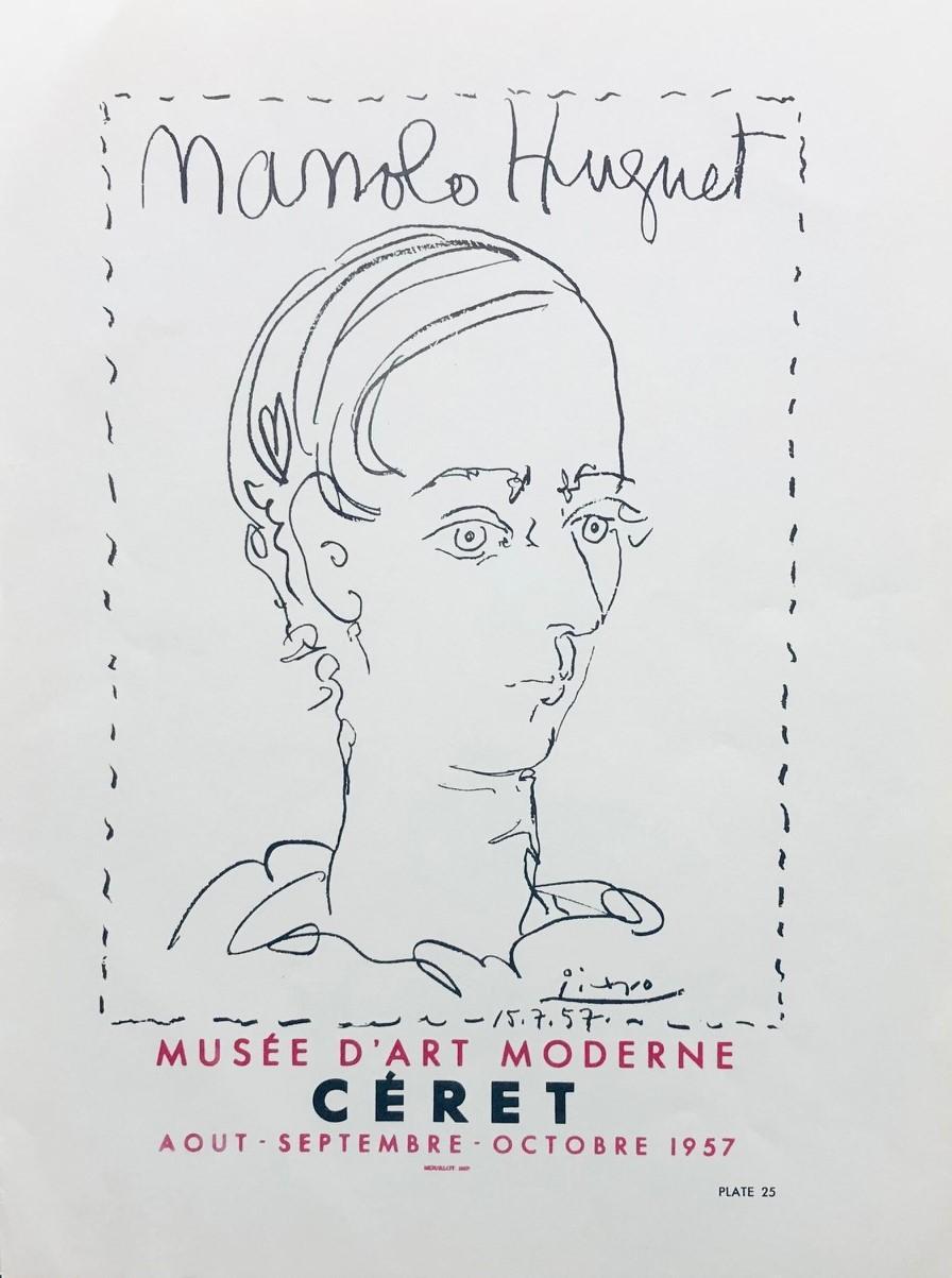 Manolo Hugnet, Ceret, Musee D'art Moderne, 1957. Poster (Reproduction).