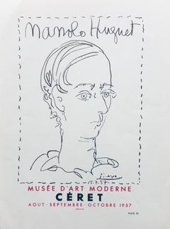 Manolo Hugnet, Ceret, Musee D'art Moderne, 1957. Poster (Reproduction).