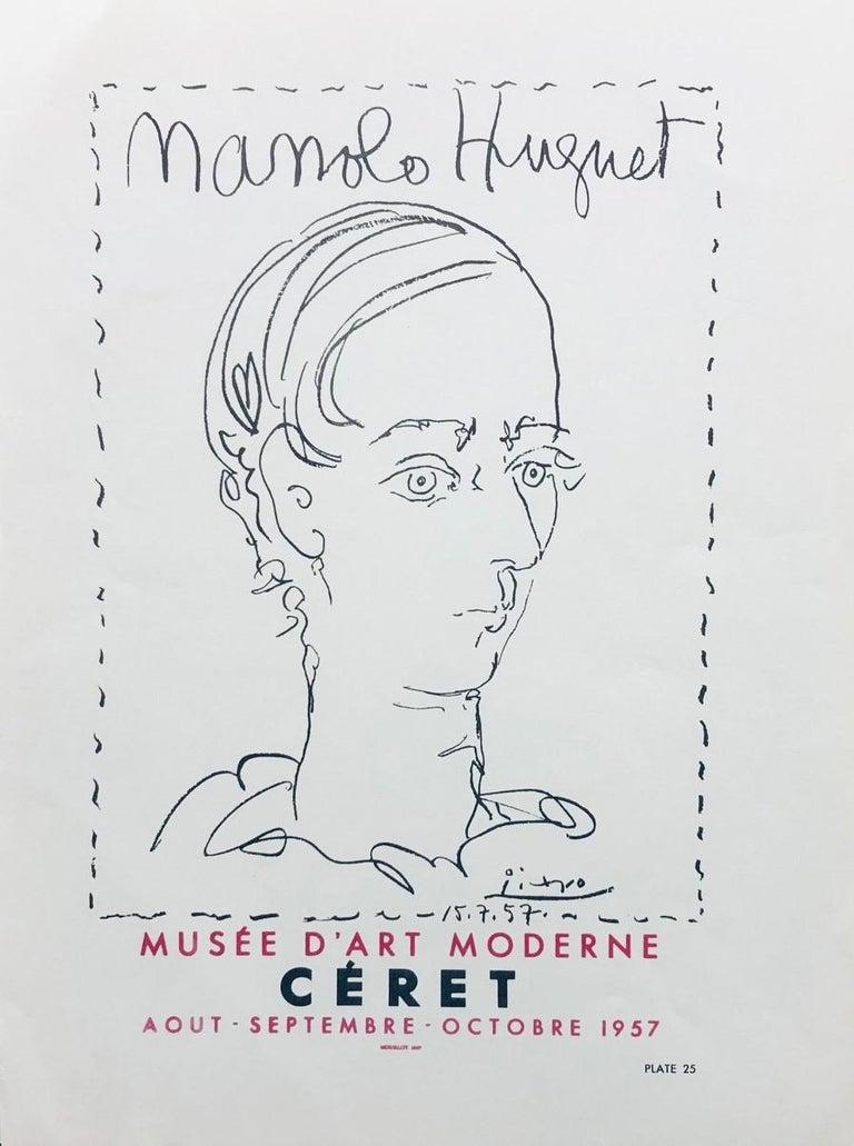 Pablo Picasso Print - Manolo Hugnet, Ceret, Musee D'art Moderne, 1957. Poster (Reproduction).